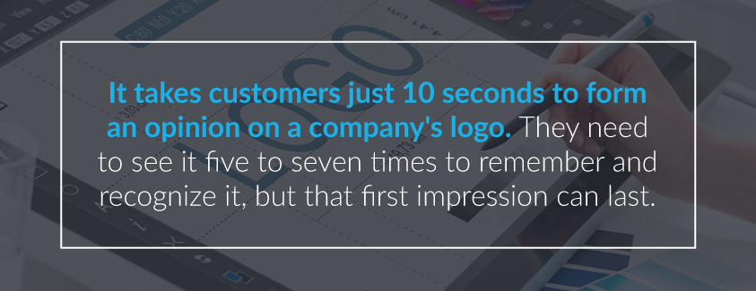 10 seconds to develop opinion on logo
