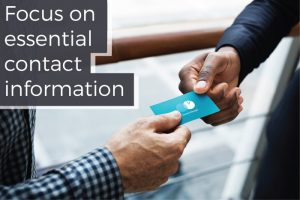 Essential Contact Information for Business Card