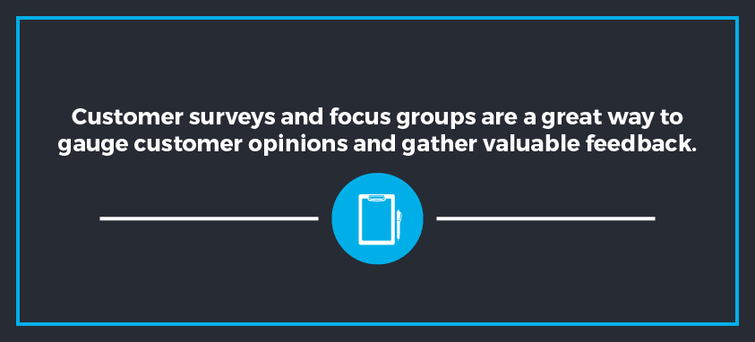 Use customer surveys to gain valuable insight on your website's functionality.