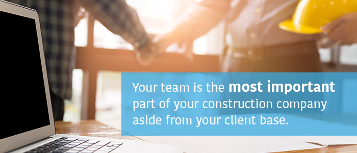 Construction Company Team Most Important Marketing Material