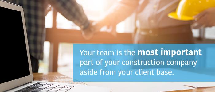 Equipo de la empresa constructora Material de marketing más importante