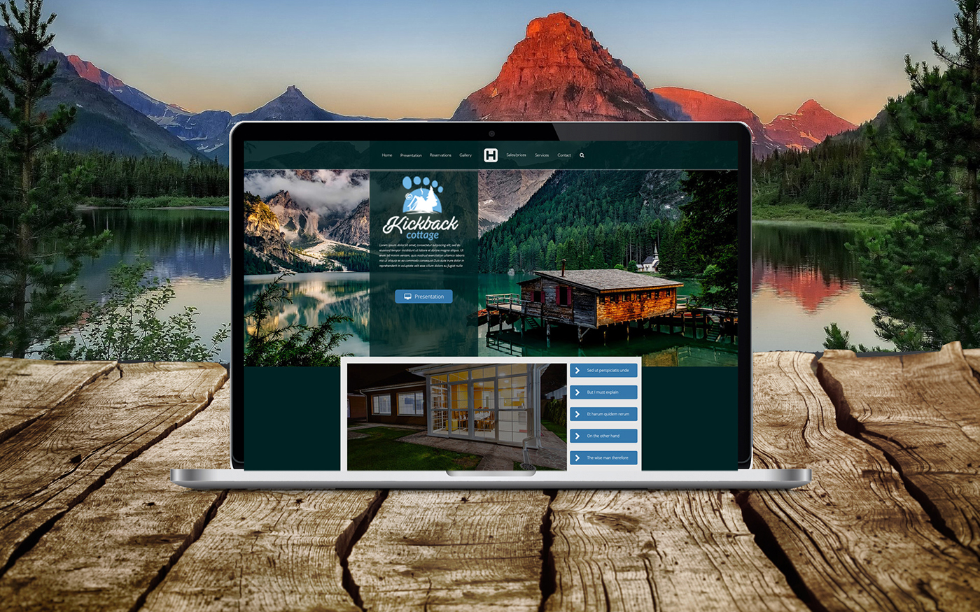 Kickback Cottage Custom Vacation Rental Website Design