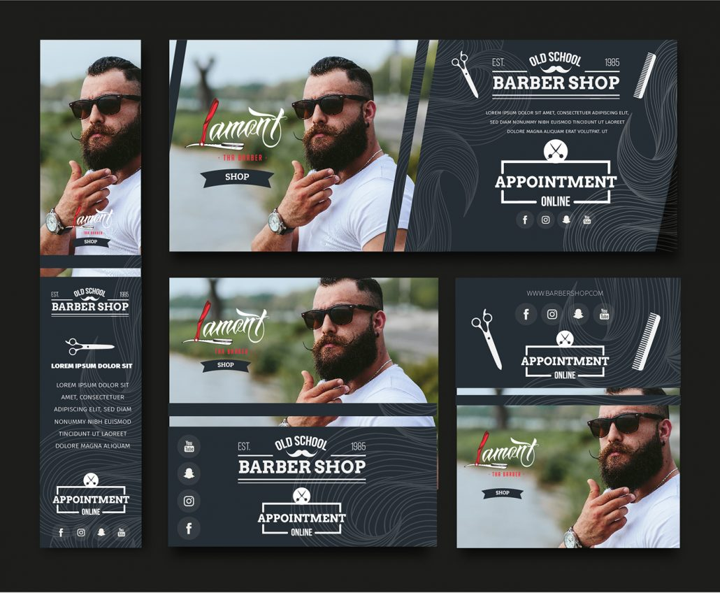 Lamont the Barber Logo Design Example
