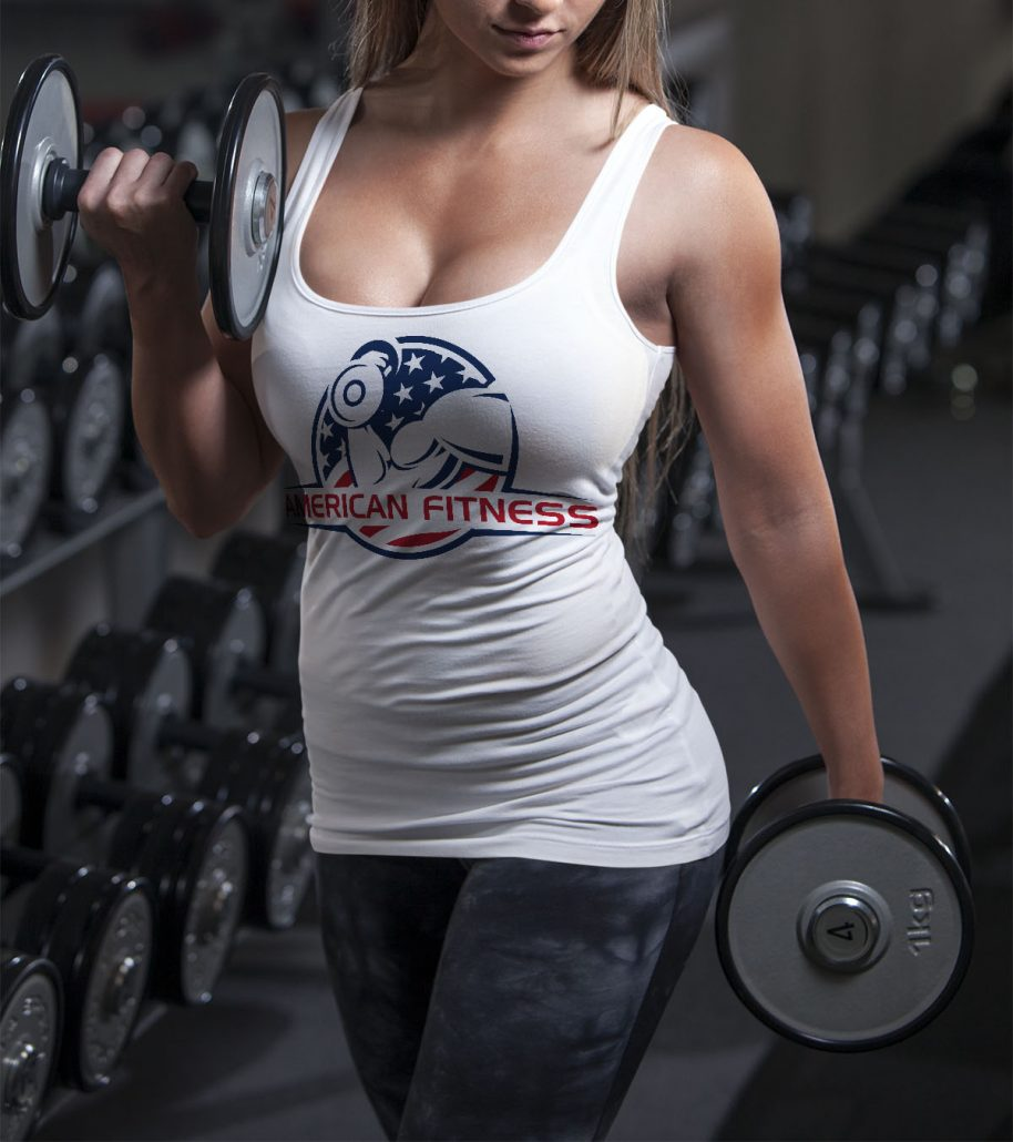 American Fitness Center Graphic Design
