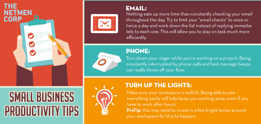 Small business productivity tips