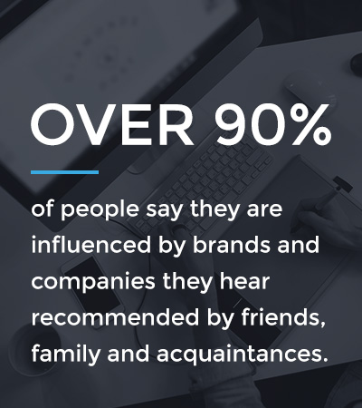 90% influenced by brand