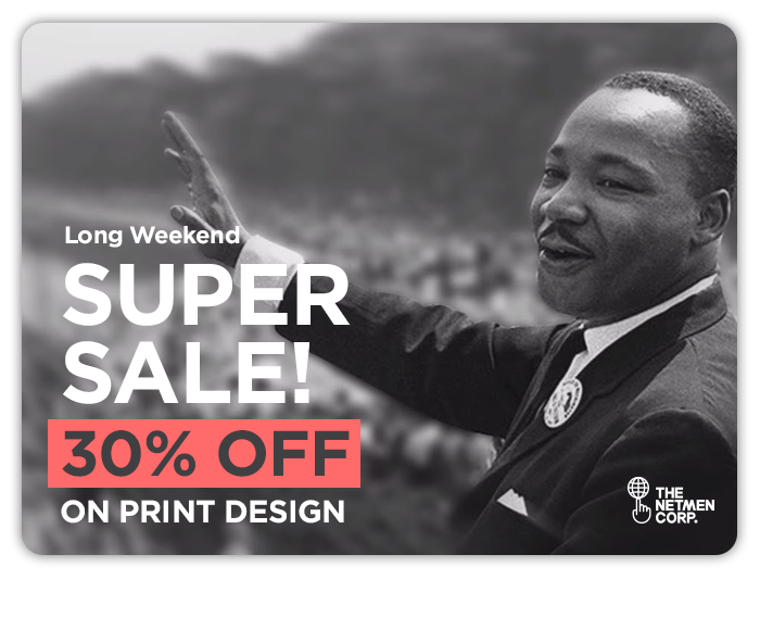 LONG WEEKEND SALE - 30 OFF ON PRINT DESIGN