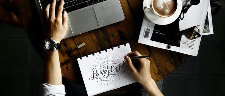 designer working on the visual elements of a brand identity