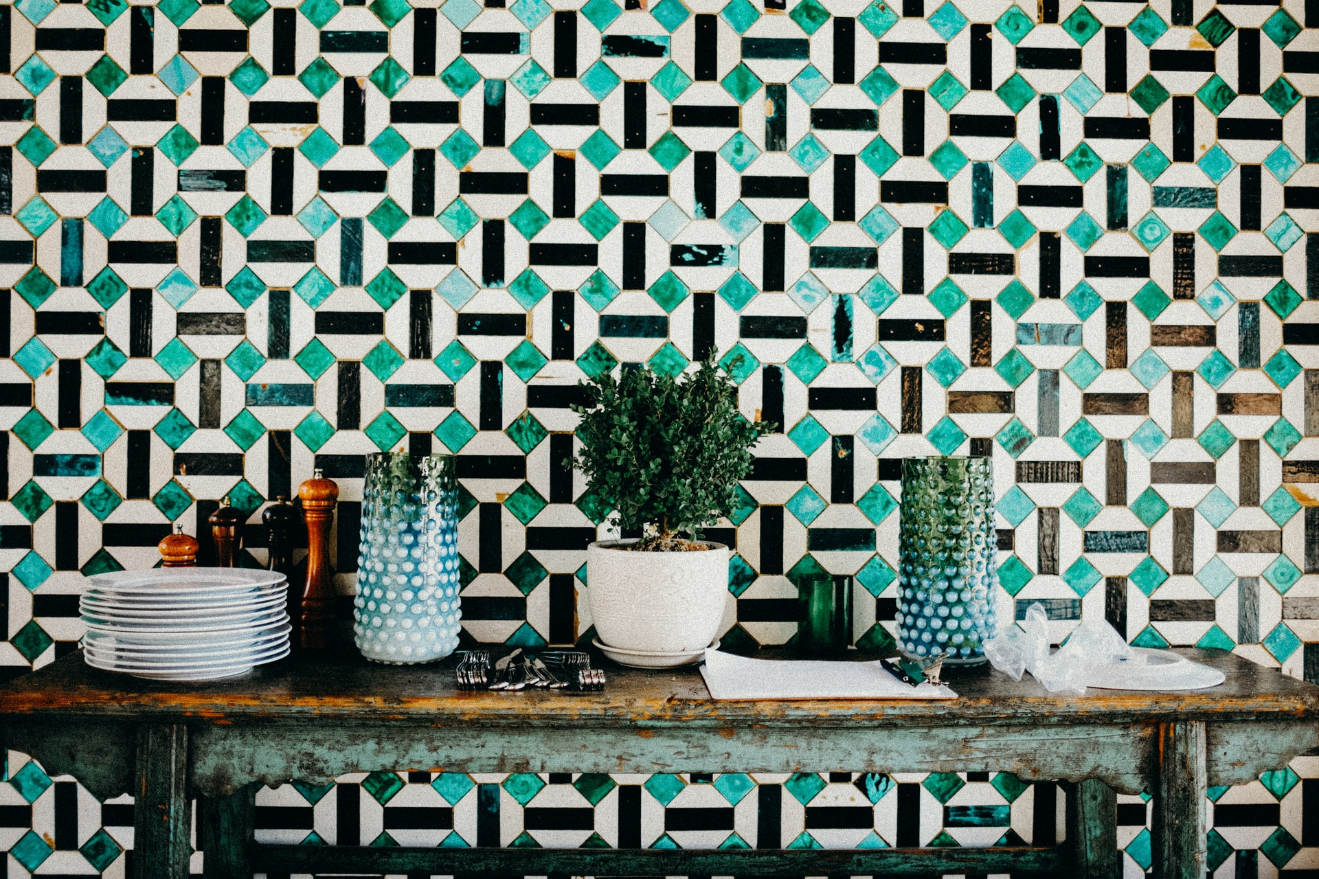 Geometric patterns with mood-boosting colors