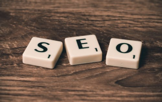 Letters SEO that refers to SEO marketing.