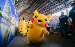 A Pikachu plushie mascot